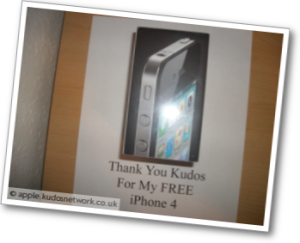 Free iPhone 4 Proof of Kudos Network myfreegadget.wordpress.com